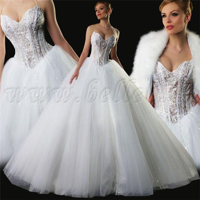 Классное свадебное платье